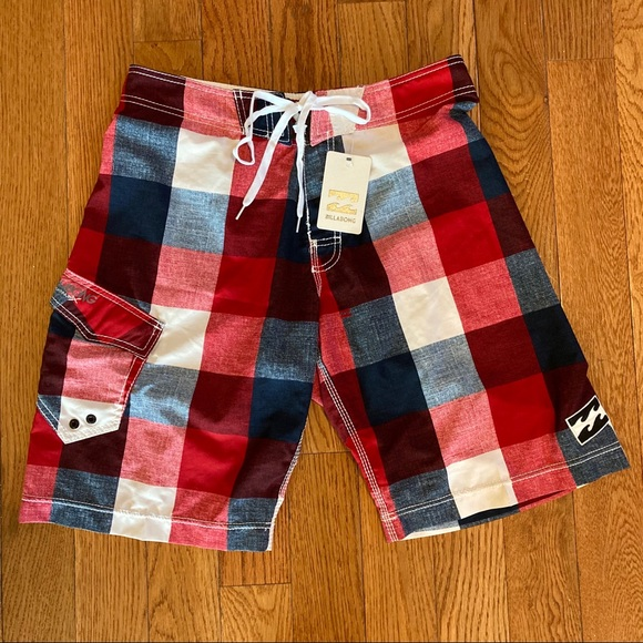 NEW Billabong Board Shorts Bathing Suit Red 32